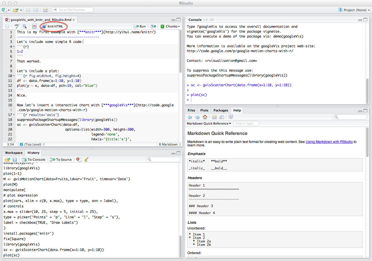 Interactive reports in R with knitr and RStudio | mages' blog